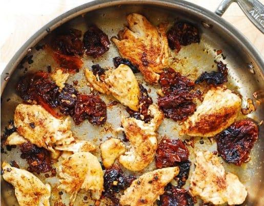 Ensalada de mostachol y pollo a la barbacoa